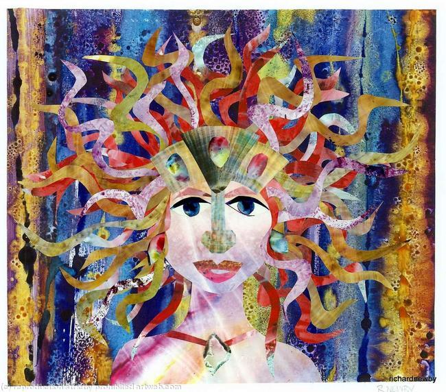 Aquarius Acrylic collage width=