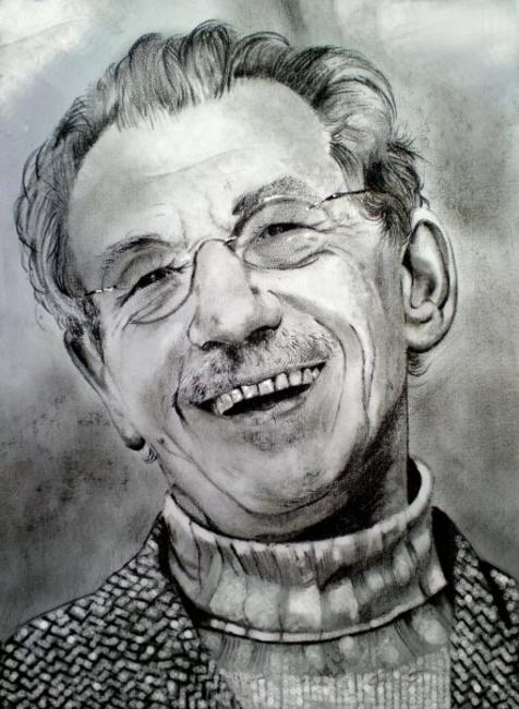 Sir Ian McKellen Charcoal and graphite on paper 21x29cm