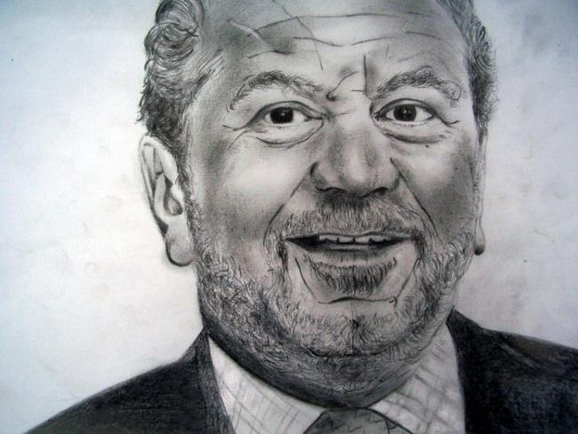 Sir Alan Sugar Charcoal and graphite on paper 29x21cm