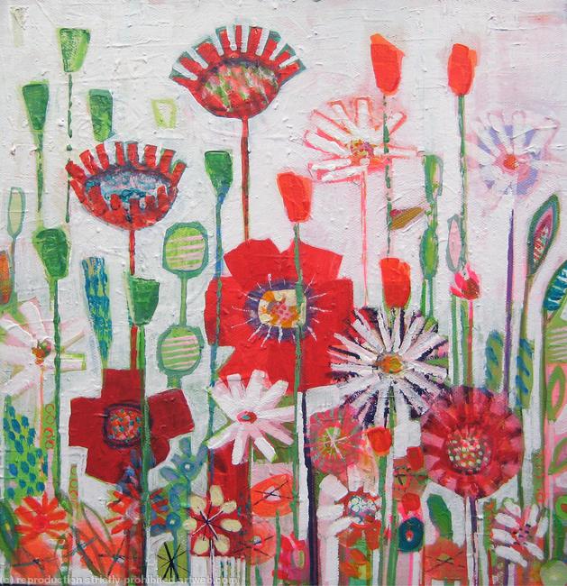 Petal Garden Acrylic on canvas width=