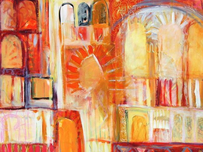 alhambra acrylic and mixed media on paper 60x40cm