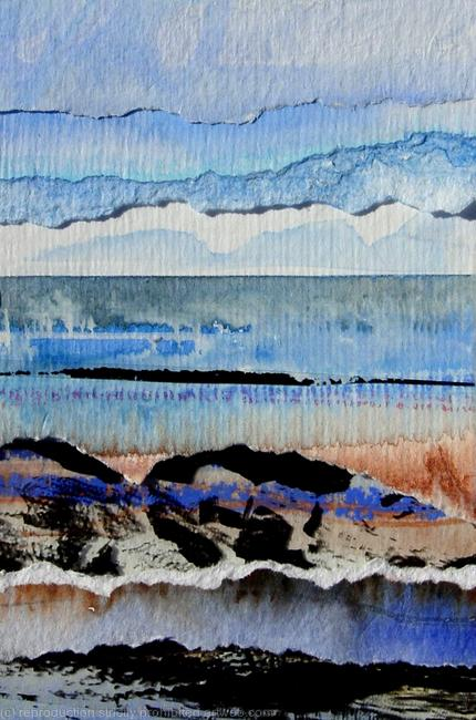 Rocky Shore mixed media on canvas 10x15cm