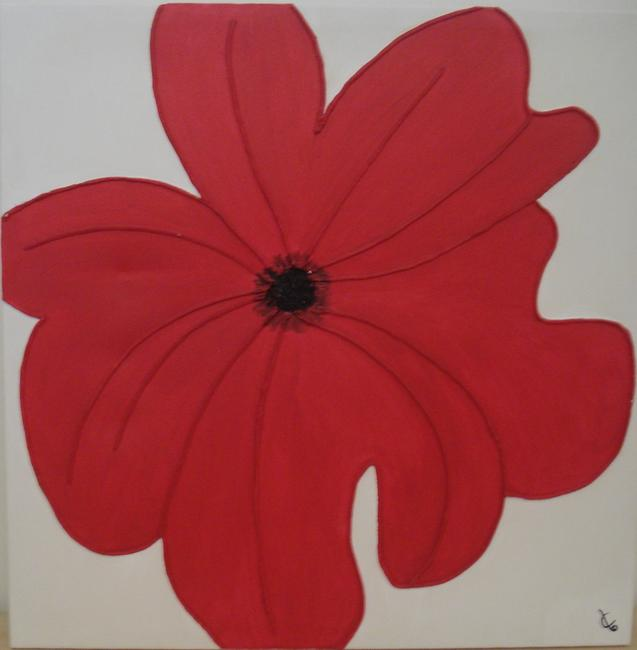 Poppy 00 Arylic on Box Canvas 50x50cm
