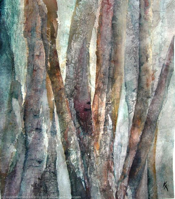 Into the woods Watercolour width=