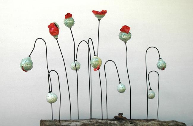 Picardie Poppies stoneware 120x100cm