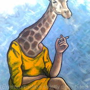 smoking giraffe
