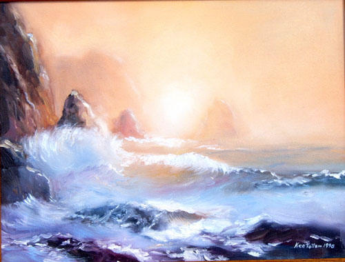 Big Wave Oil on Canvas 58x38cm