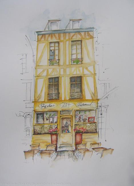 Chez Nous Pen & Watercolour width=