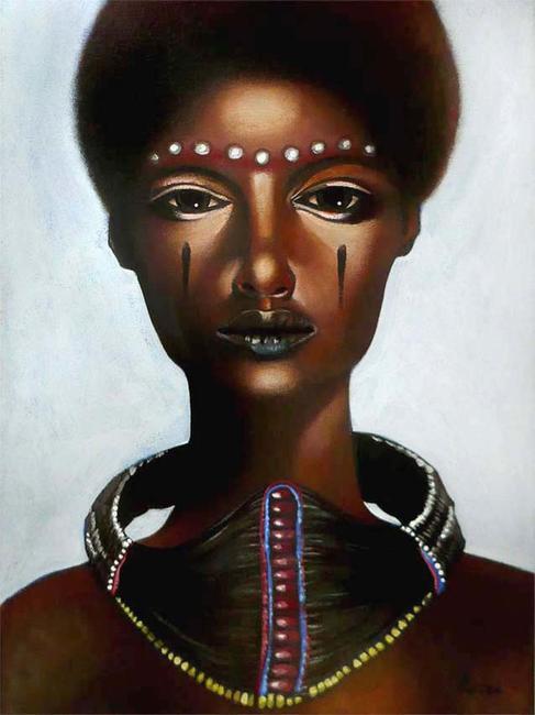 African Queen Acrylic 30x40cm