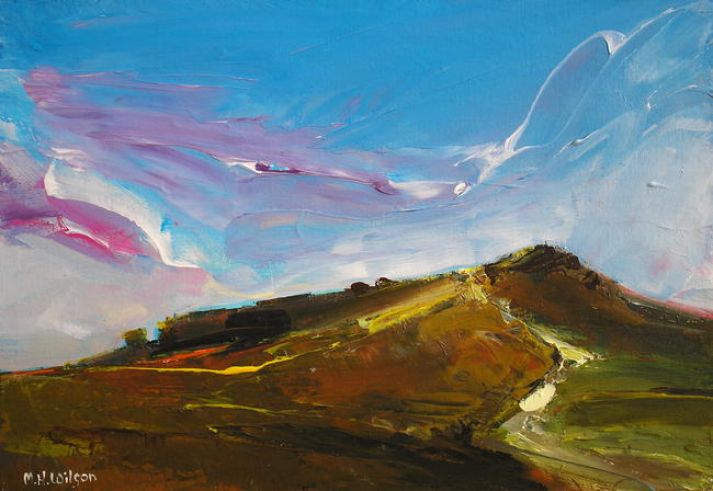Path Toward Higger Tor Acrylic 44x34cm