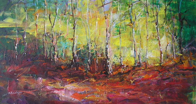 Morning Autumn Sunlight Acrylic 50x40cm