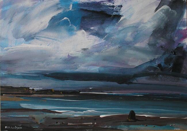 Approaching Storm [Black Nab, Saltwick Bay] 1 Acrylic 40x30cm