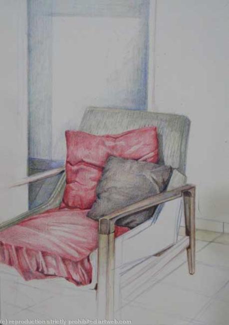 Arm Chair coloured Pencil on Paper 15x20cm