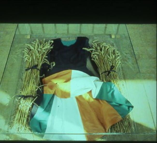Tri Colour Skirt Garment /Wheat/Glass width=