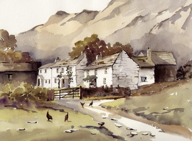 Low Yewdale, Coniston watercolour on Arches 51x41cm