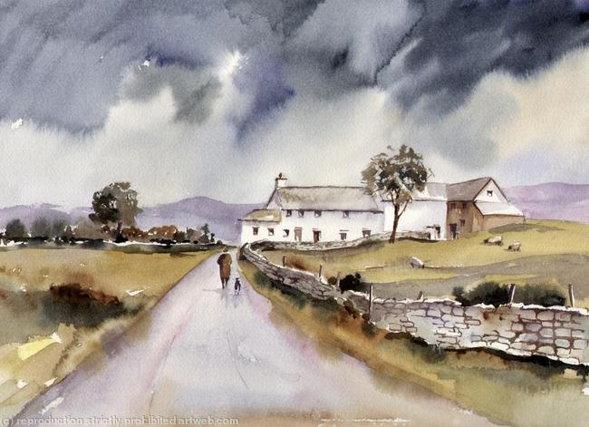 AFTER THE RAIN watercolour on Arches 51x41cm
