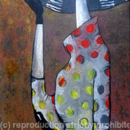 Lady with a hat-polka dot