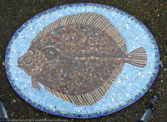 Turbot Vitreous Glass 80x60cm