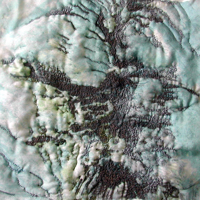 bark silk embroidery 30x30cm