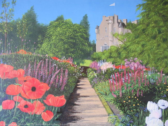 Crathes Castle, Banchory Scotland Oil on Canvas [Prints available] width=