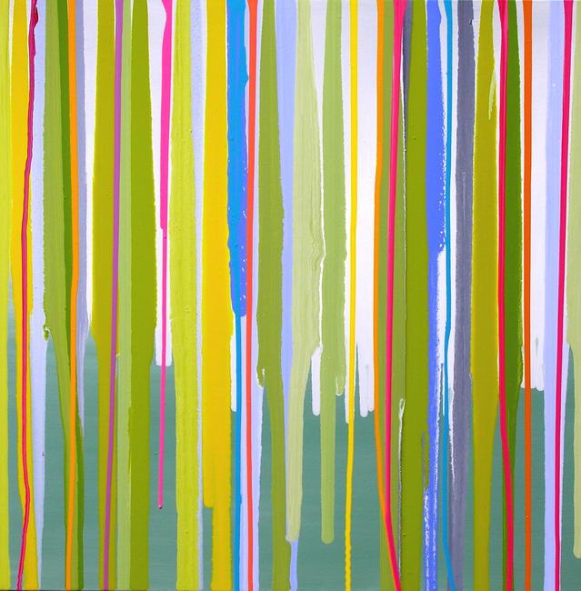 Creme de Menthe gloss paints on canvas width=