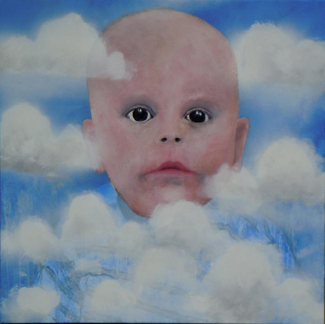 Head in the Clouds oils 50x50cm