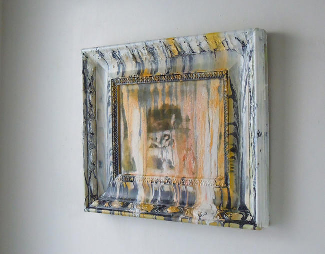 Tiger Tiger Burning Bright commercial gloss and aerosol paints on canvas and wood itemprop=