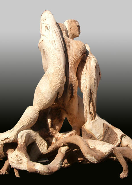 Fallen Angel , view 2. woodcarving itemprop=