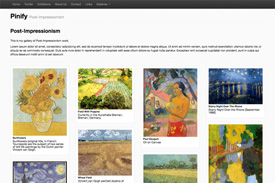 artist website template - Pinify