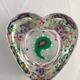 Heart of Glass green pink white