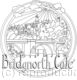 Bridgnorth view of the bridge from lowtown. Example of a colouring in design for any hotel, cafe, b&b etc. Any name can be within this design as the wording. Please ask.