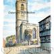Whitchurch ( Shropshire) Church, St Alkmunds watercolour printed on a 6 by 4 inch greeting card with envelope in a cello bag.