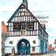 Bridgnorth town hall colour with as a greeting card or bespoke notelet. Prints and postcards available.