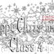 HAPPY CHRISTMAS  Class 4 ( example) How about a colouring in page with your class name woven into the design. Sent as a jpeg file via email.