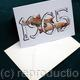 Fish YEAR card example, any year and any fish, Just ask. This could be a birthday card or notelet or invitation etc.