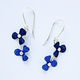 RS9 Double rivet rosa drop earrings in blue/indigo