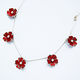 BL5 Five blossom necklace in red