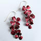 RS5 Rosa cascade drop earrings in burgundy