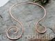 Neck Torc - Asymmetrical open spiral - Copper, Celtic Torq or Torque - medium