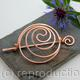 Yin Yang Spiral Hair Barrette Or Bun Cage - Copper - Hair clip