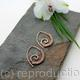 Embellished Ammonite open pointed spiral tribal earrings - 1mm copper and faceted Labradorite