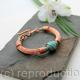 Turquoise and Copper wire wrapped bracelet - Torcesque