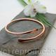Minimalist - Copper Armlet, Upper arm Bracelet or Cuff, open bangle, Hand forged copper cuff, Copper bracelet, 7th anniversary