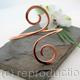 Double Spiral Copper Armlet, Arm bracelet, Upper arm Cuff