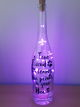 Decorated Bottle with LED Lights(Purple) (A true friend leaves paw prints on your heart)