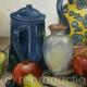 MULTI-COLOR STILL LIFE IN OIL