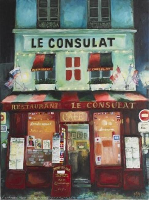 Le Consulat Acrylic on canvas 40x60cm