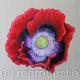 Red Poppy - Square Greetings Card