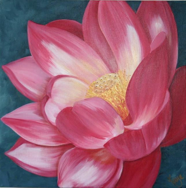 Manjari 39 s lotus flower by kaye lake for How to make flower painting