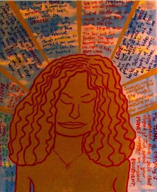 Dream of a Know-it-all Golden Goddess (No. 1) Acrylic on canvas 50x70cm